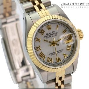 Rolex Lady Datejust White MOP 26mm Watch